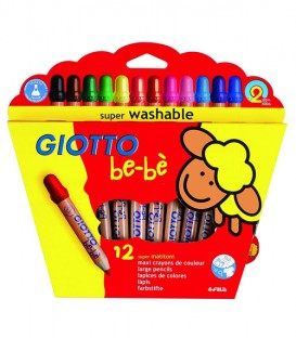 Estuche 12 lápices ceras Giotto Bebé