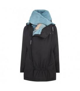 Abrigo de porteo y embarazo Wallaby 2.0 - negro y azul