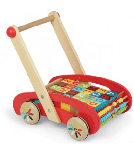 Andador abc buggy tatoo de 30 cubos - Janod