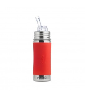Botella de acero inoxidable con pajita de silicona - Pura Kiki