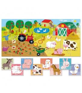 Puzzle 8 más 1 la granja - Ludattica