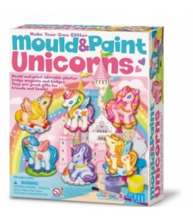 Molde y pinta unicornios - 4M