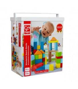 Puzle de madera 101 bloques - Hape